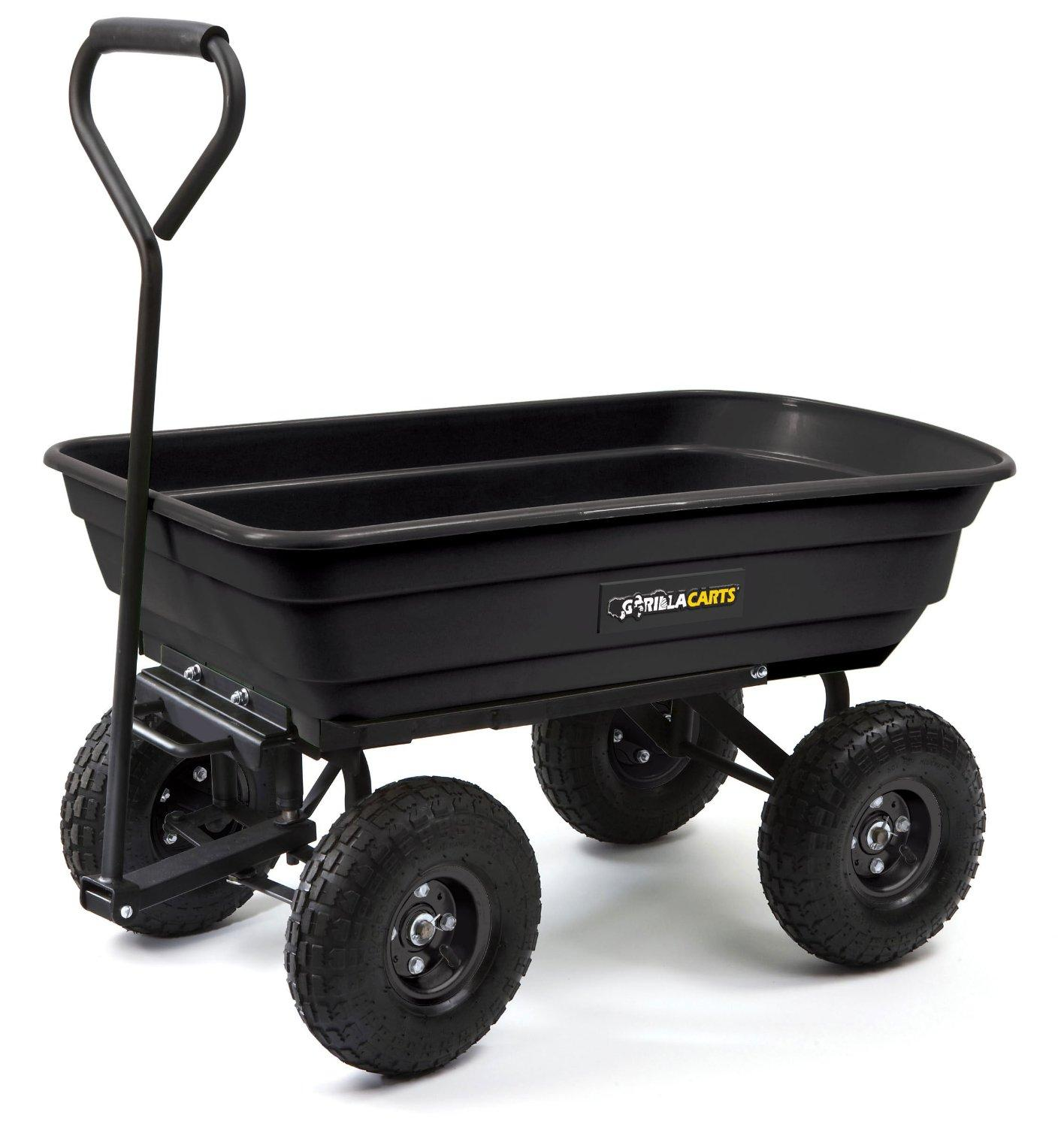Factory Utility Cart: Amazon.com : Gorilla Carts GOR200B Poly Garden Dump Cart