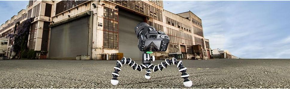 Camera tripod, dslr tripod, flexible tripod, portable tripod, small tripod, ball head tripod, tripod