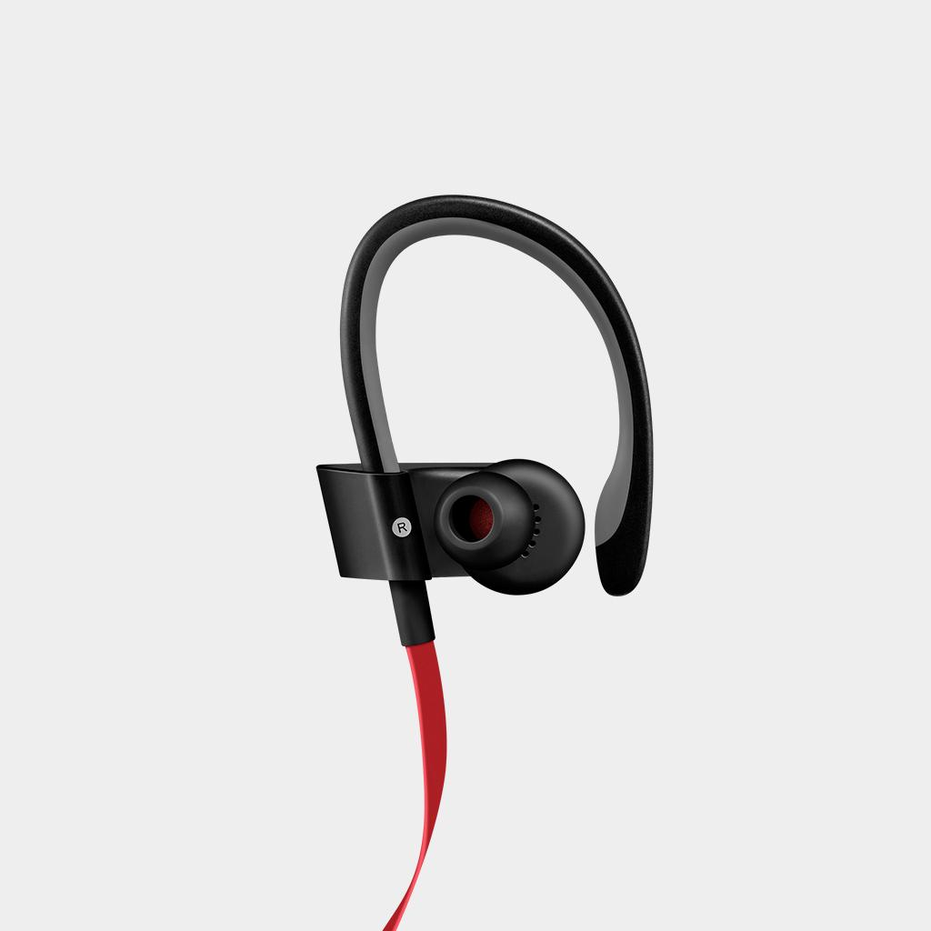 apple powerbeats 2 von dr dre in ohr kopfh rer headset verdrahtet schwarz rot ebay. Black Bedroom Furniture Sets. Home Design Ideas