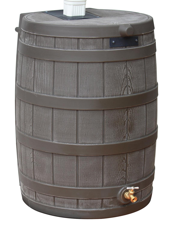 Good Ideas Rw50 Oak Rain Wizard Rain Barrel