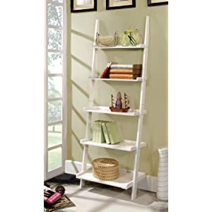 Furniture of america klaudalie 5 tier ladder for Furniture of america nara contemporary 6 shelf tiered open bookcase