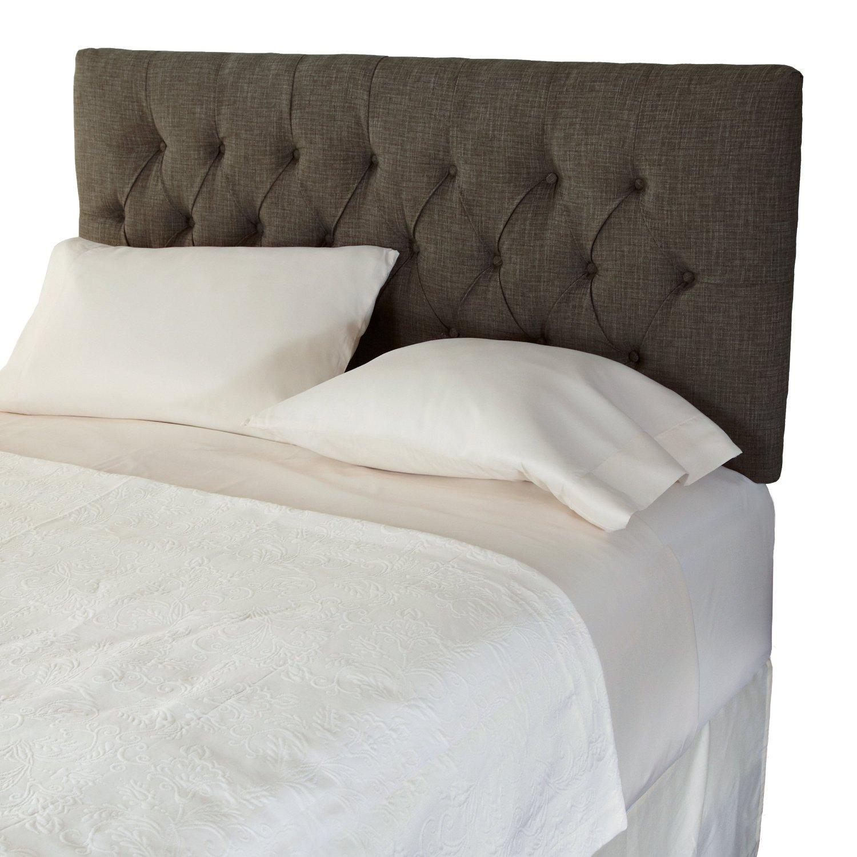 ... Adjustable Diamond Tufted Upholstered Headboard, Full, Brown