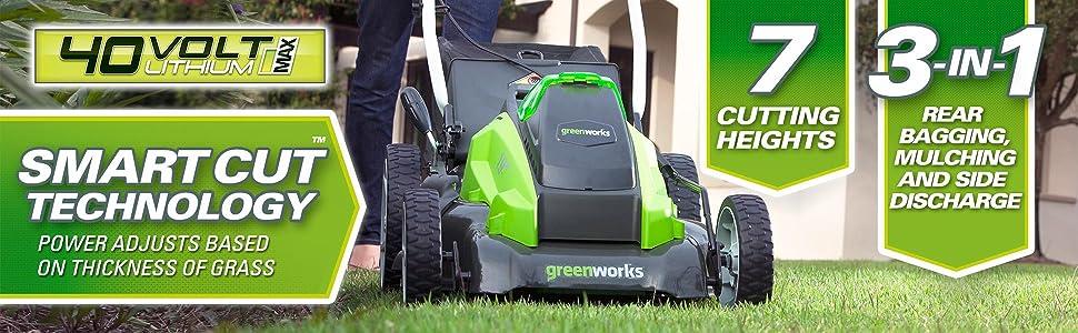 GreenWorks electric lawn mower