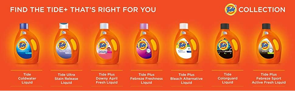 Tide Plus Bleach Alternative Original Scent HE Turbo Clean Liquid Laundry Detergent; plus collection