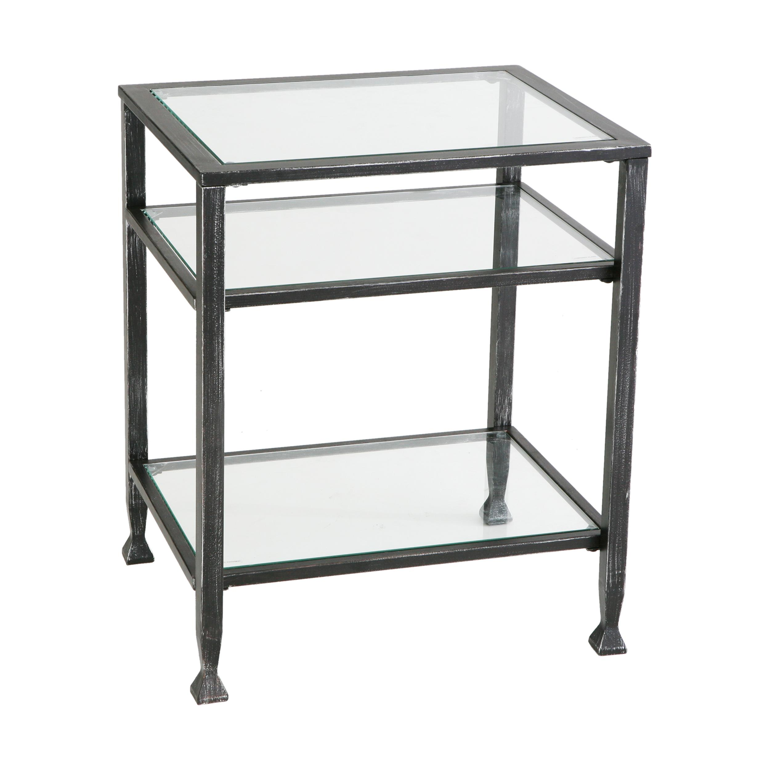 Metal End Tables ~ Amazon sei bunching metal end table glass side