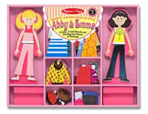Paper dolls, toy for 3 year old girl,wooden dolls, fashion, friends
