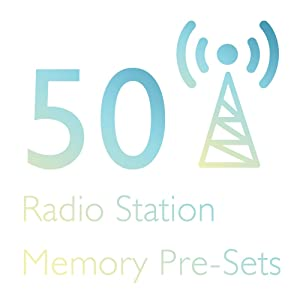 AM/FM Radio Receiver with 50 Station Memory Presets