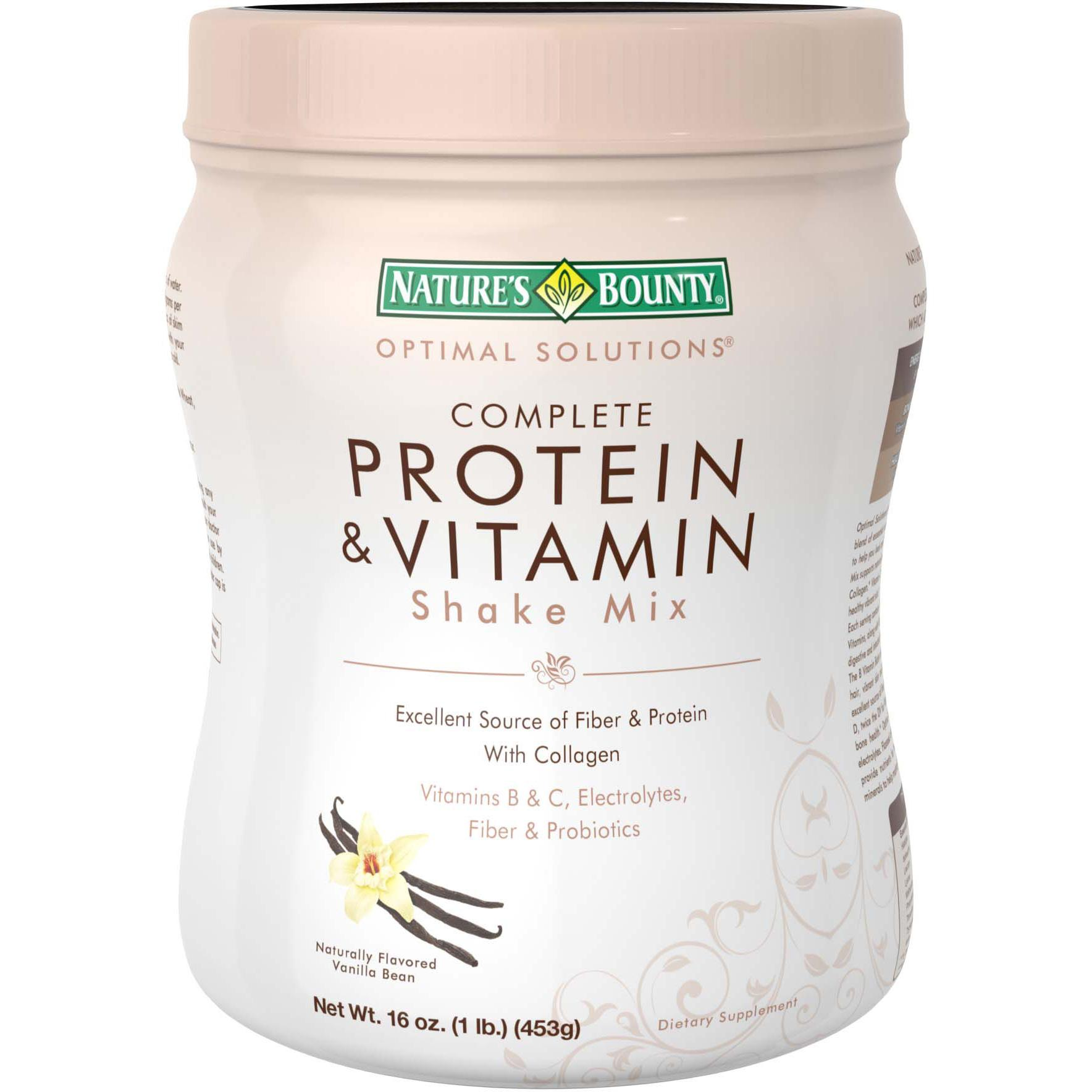 Natures Bounty Optimal Solutions Hair, Skin and Nails Gummies, 80 Count. Nature's Bounty Optimal Solutions Complete Protein & Vitamin Shake Mix Chocolate 16 OZ - Buy Packs and SAVE (Pack of 2) by Nature's Bounty. $ $ 37 FREE Shipping on eligible orders. Only 17 left in stock - order soon.