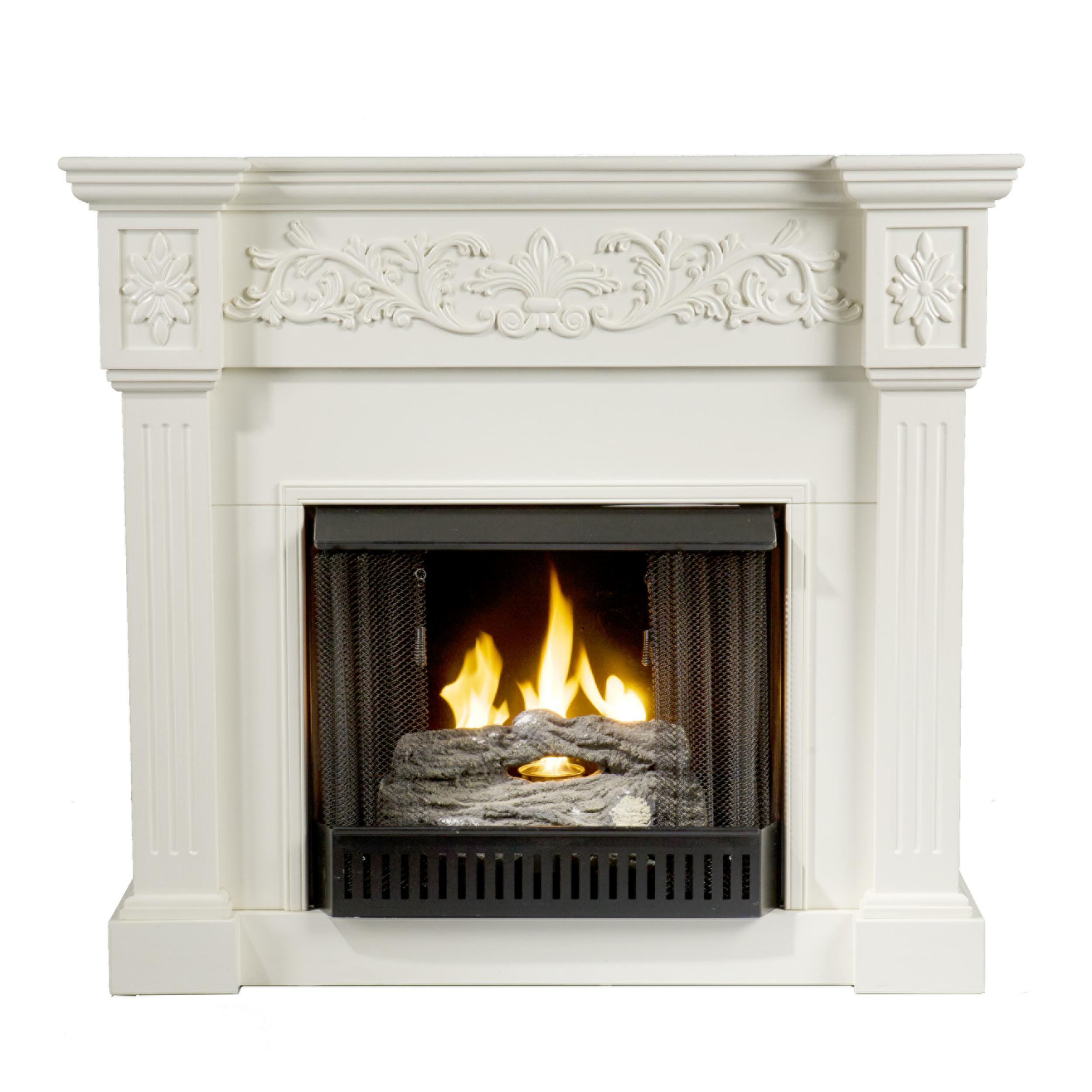 SEI Calvert Gel Fuel Fireplace Ivory