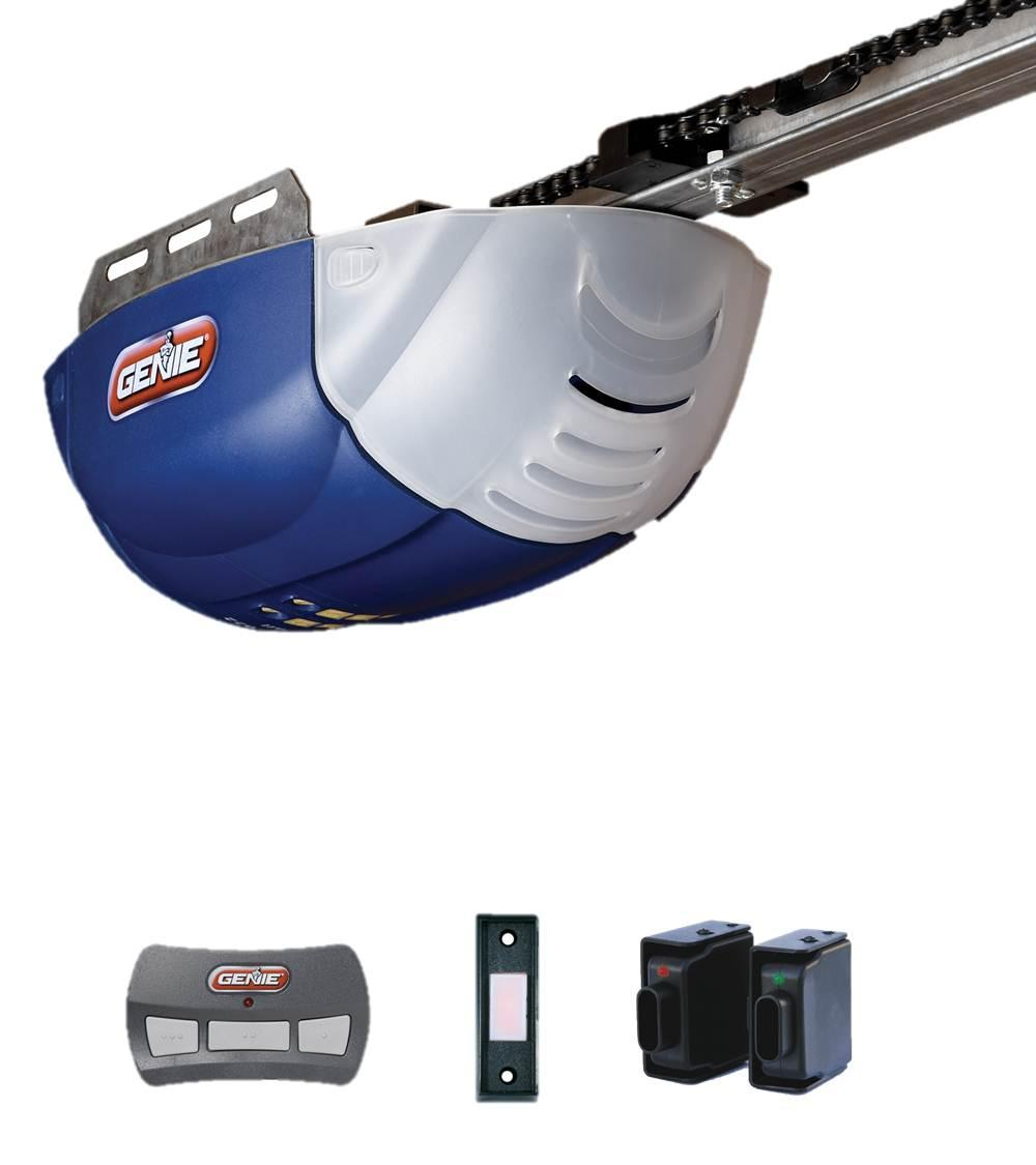 Genie 1022 th 1 2 horsepower dc chainlift garage door for 1 2 garage door opener