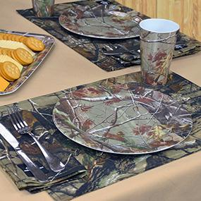 Dii real tree melamine bowl 6 inch set of 6 for Camouflage kitchen ideas