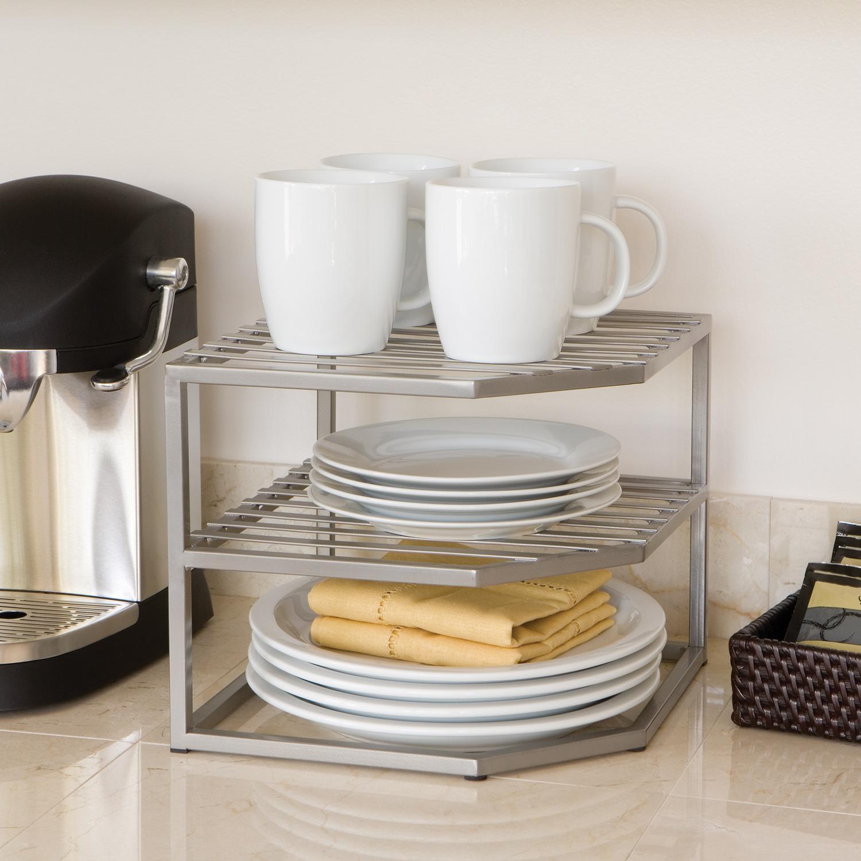 Kitchen Shelf Amazon: Amazon.com: Seville Classics 2-Tier Corner Shelf Counter