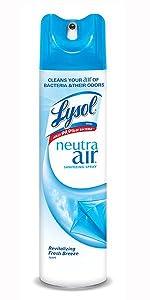 Lysol Neutra Air, air spray, deodorizing, deodorizer, bacteria, kills bacteria