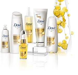 Dove leave in conditioning oil nourishes to give you non-greasy, frizz-free hair