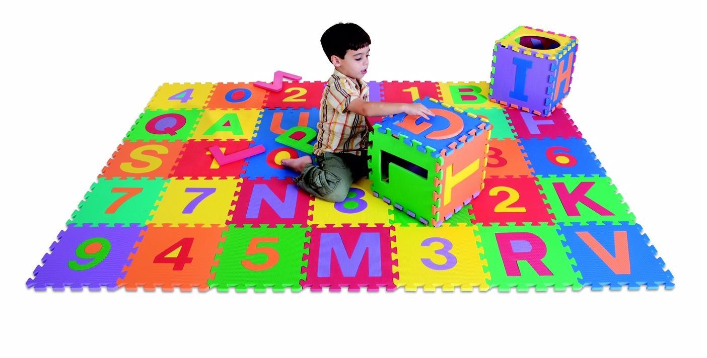 Amazon Com Edushape Edu Tiles 36 Piece 6x6ft Play Mat
