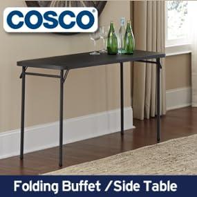 folding buffet side table