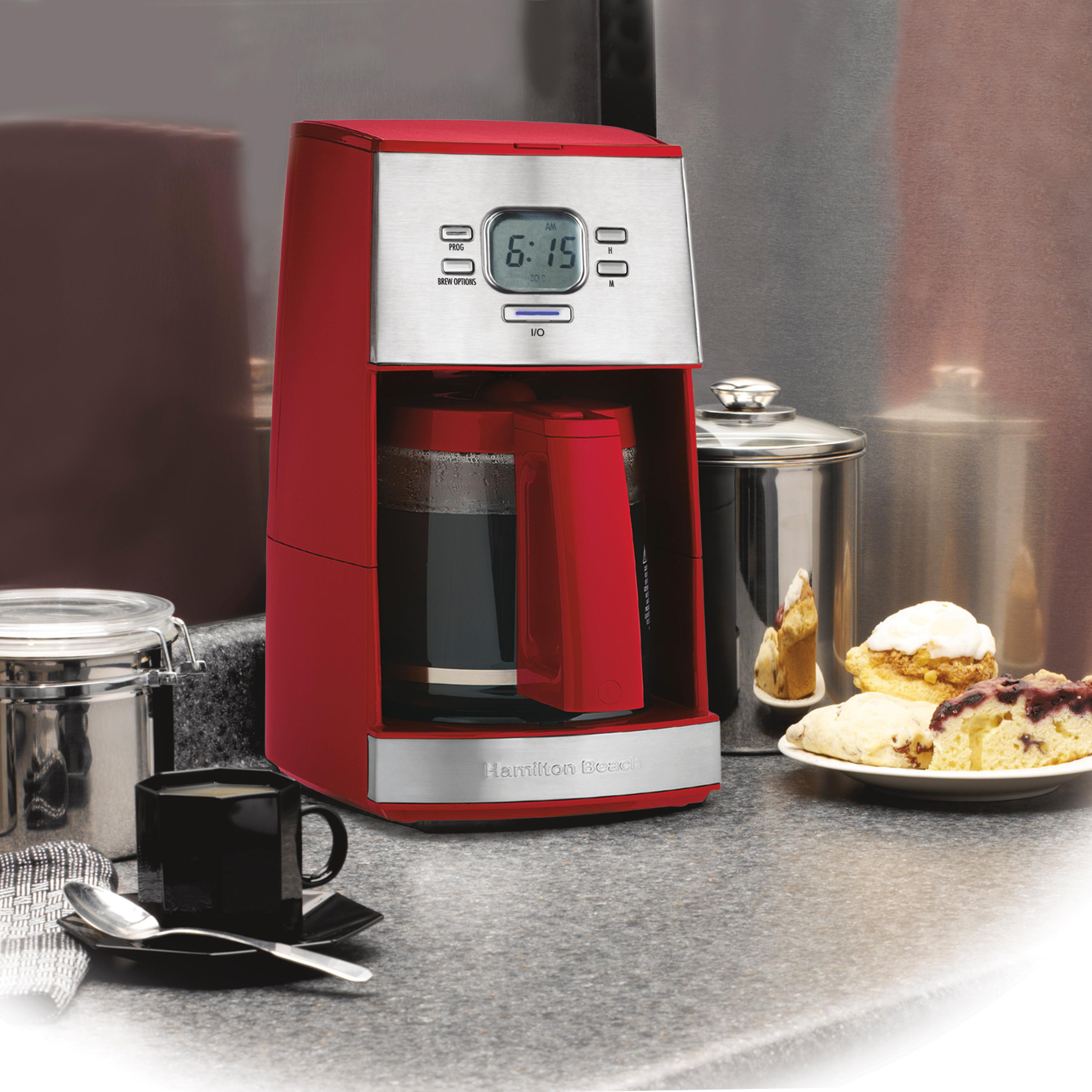 Mr Coffee No Carafe Coffee Maker Reviews : Amazon.com: Hamilton Beach Ensemble 12-Cup Coffeemaker with Glass Carafe, Red: Drip Coffeemakers ...
