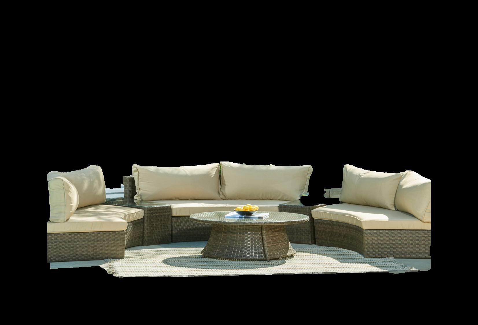 Manhattan comfort pearl semi circle outdoor for Sofa exterior amazon