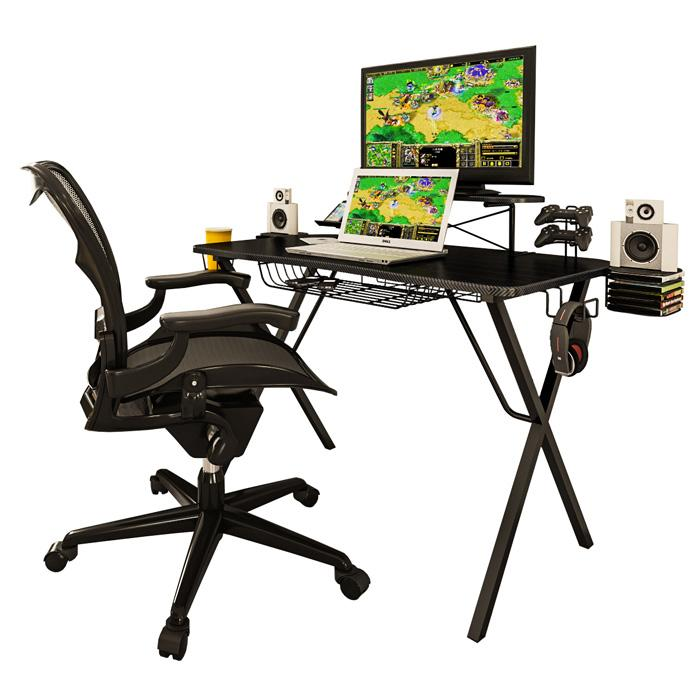gaming desk; gaming desktop; atlantic gaming desk; computer desk