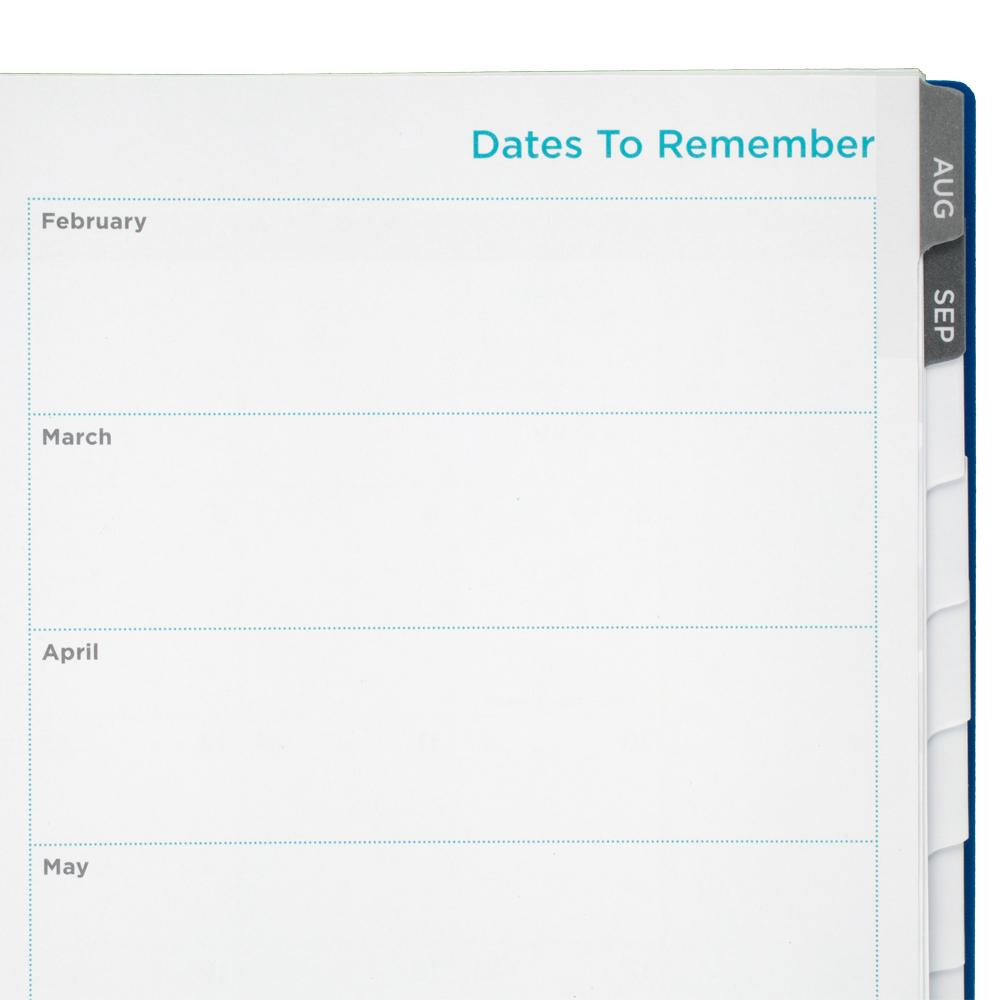 Amazon.com : Five Star Student Weekly / Monthly Planner, Blue Stripe ...