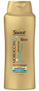 Suave Professionals Moroccan Infusion Conditioner conditions hair, smoothing cuticles to make shiny