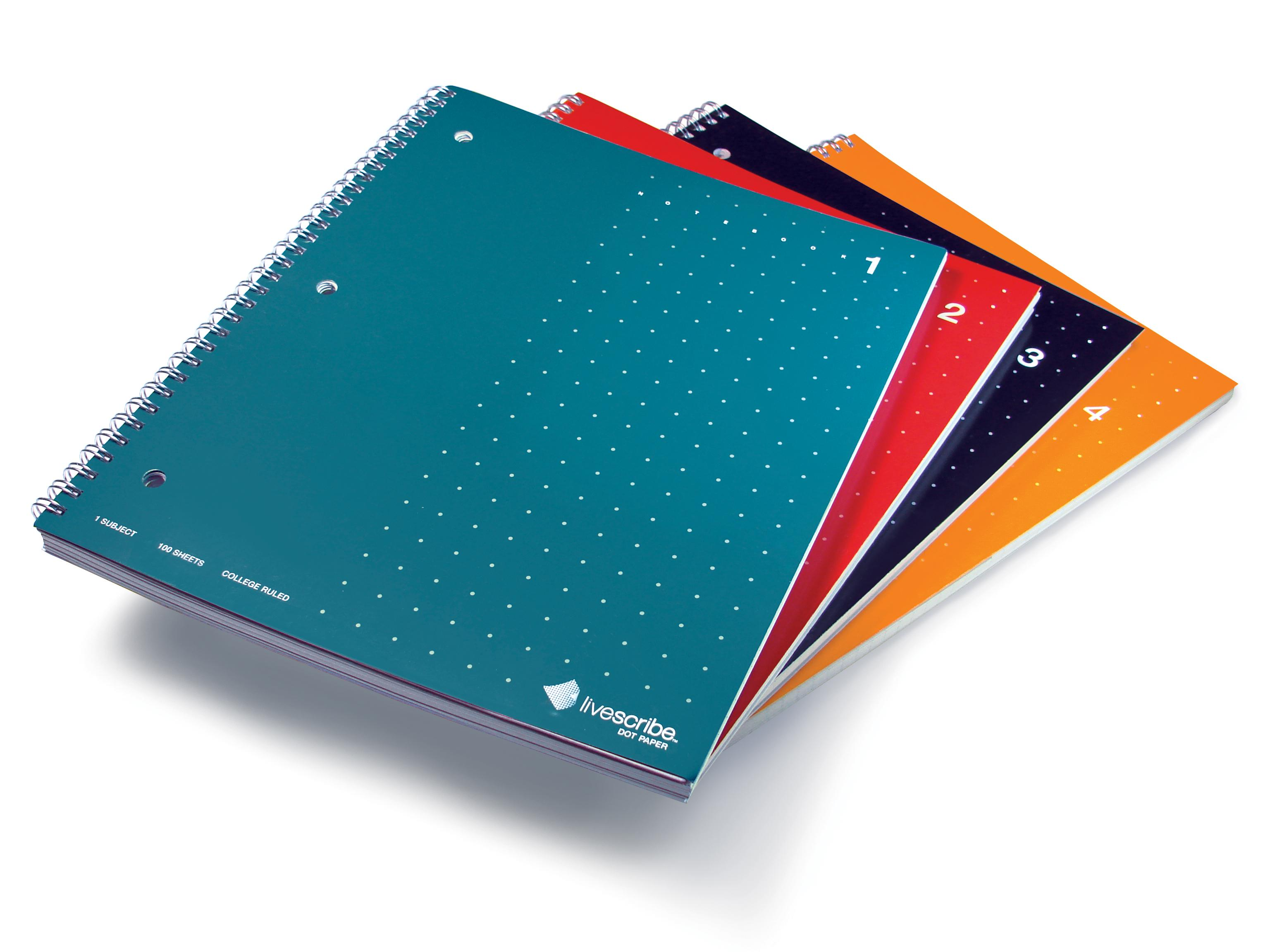 Amazon.com : Livescribe 8.5 x 11 Single Subject Notebook #1-4 (4-pack