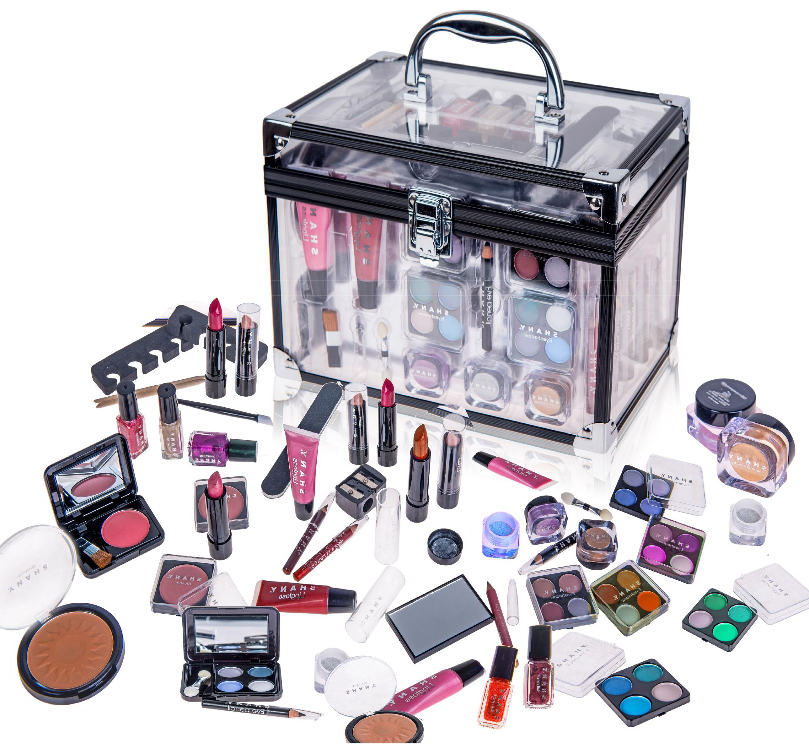 Shany cameo cosmetics carry all trunk makeup kit with reusable aluminum case exclusive holiday gift set из сша.