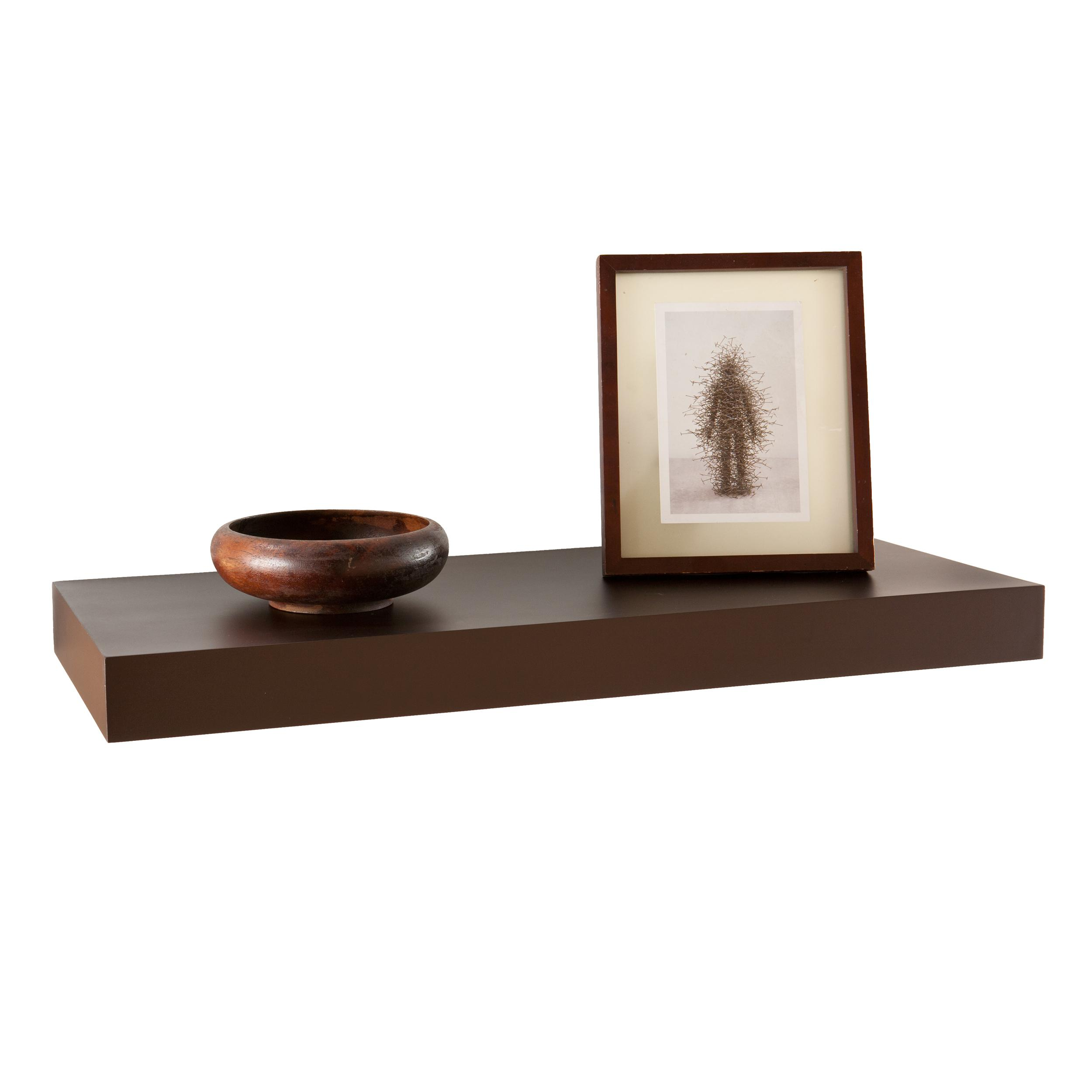 Southern Enterprises Chicago Floating Shelf, 24-Inch, Chocolate