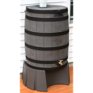 how to build a rain barrel stand