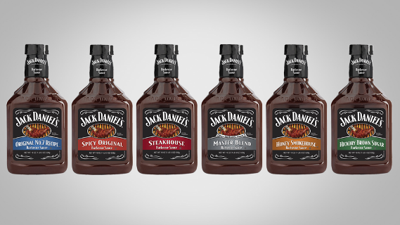 Jack Daniel's Barbecue Sauce, Original No. 7 Recipe, 19 Ounce (Pack of