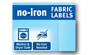 Avery no iron clothing labels white assorted pack of 45 40700 office products - How to unwrinkle your clothes with no iron ...