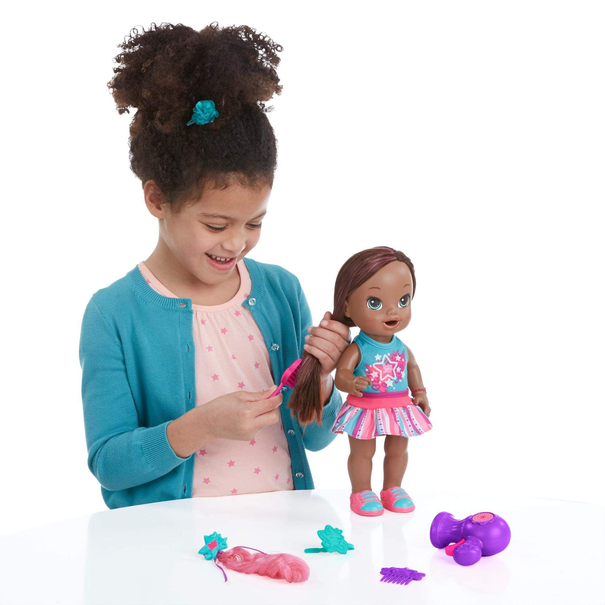 African American Fashion Doll Braid Out Ponytail | Short ...