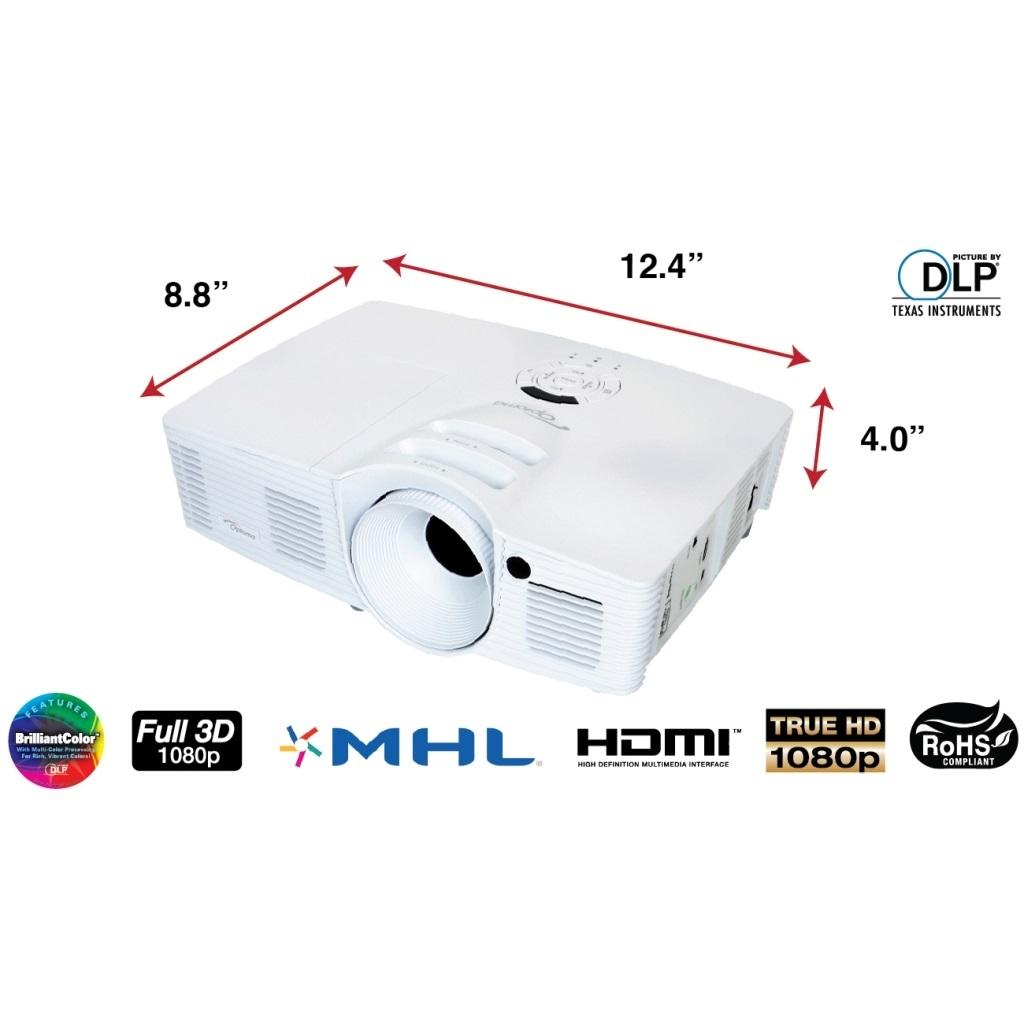 Optoma hd26 1080p 3d dlp home theater for Hd projector amazon