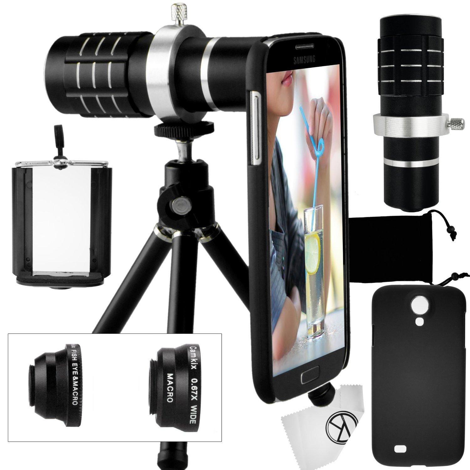 Amazon.com: Camkix Samsung Galaxy S4 Camera Lens Kit including a 12x