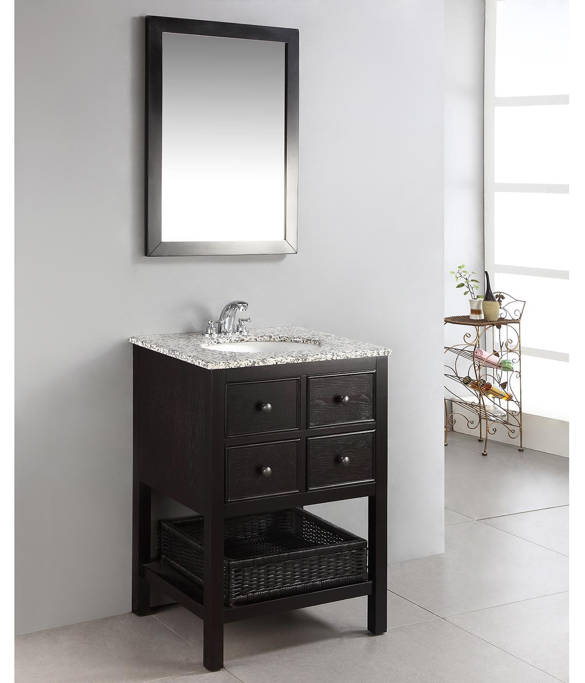 Burnaby 24 Bath Vanity With Dappled Grey Granite Top Bathroom Vanities