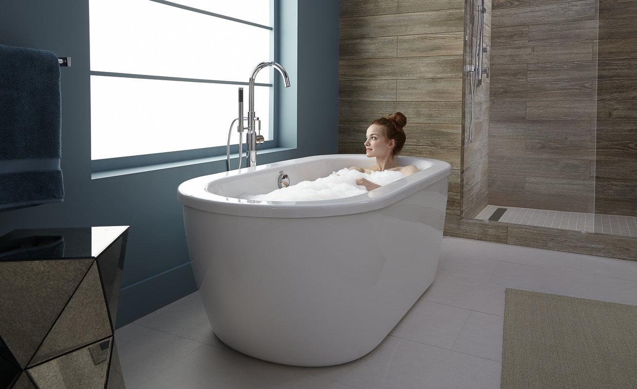 American standard cadet freestanding tub for How big is a standard tub