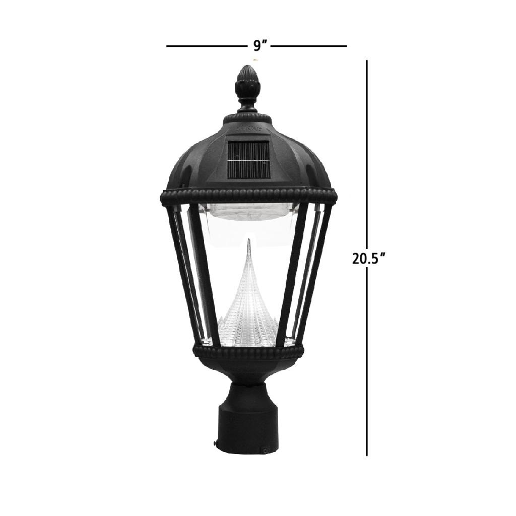 Gama Sonic Royal outdoor solar light GS-98F dimensions