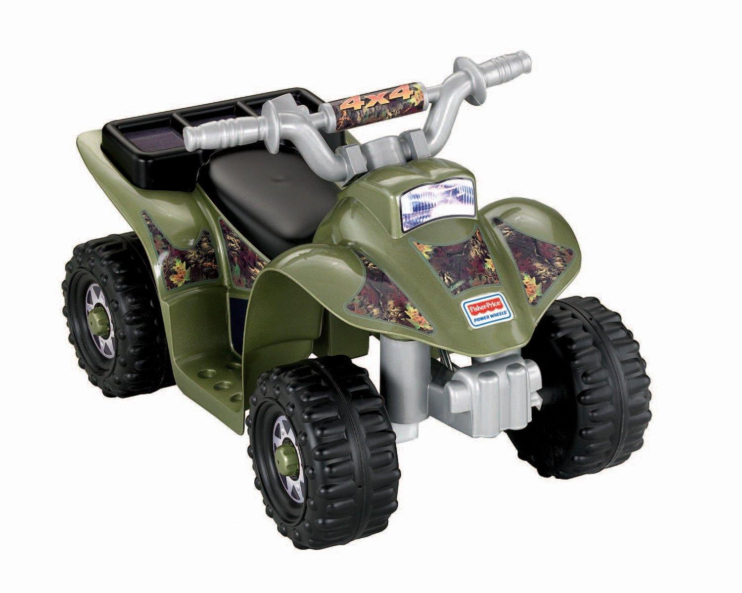 Fisher price power wheels camo lil 39 quad toys for Motorized quad for toddler