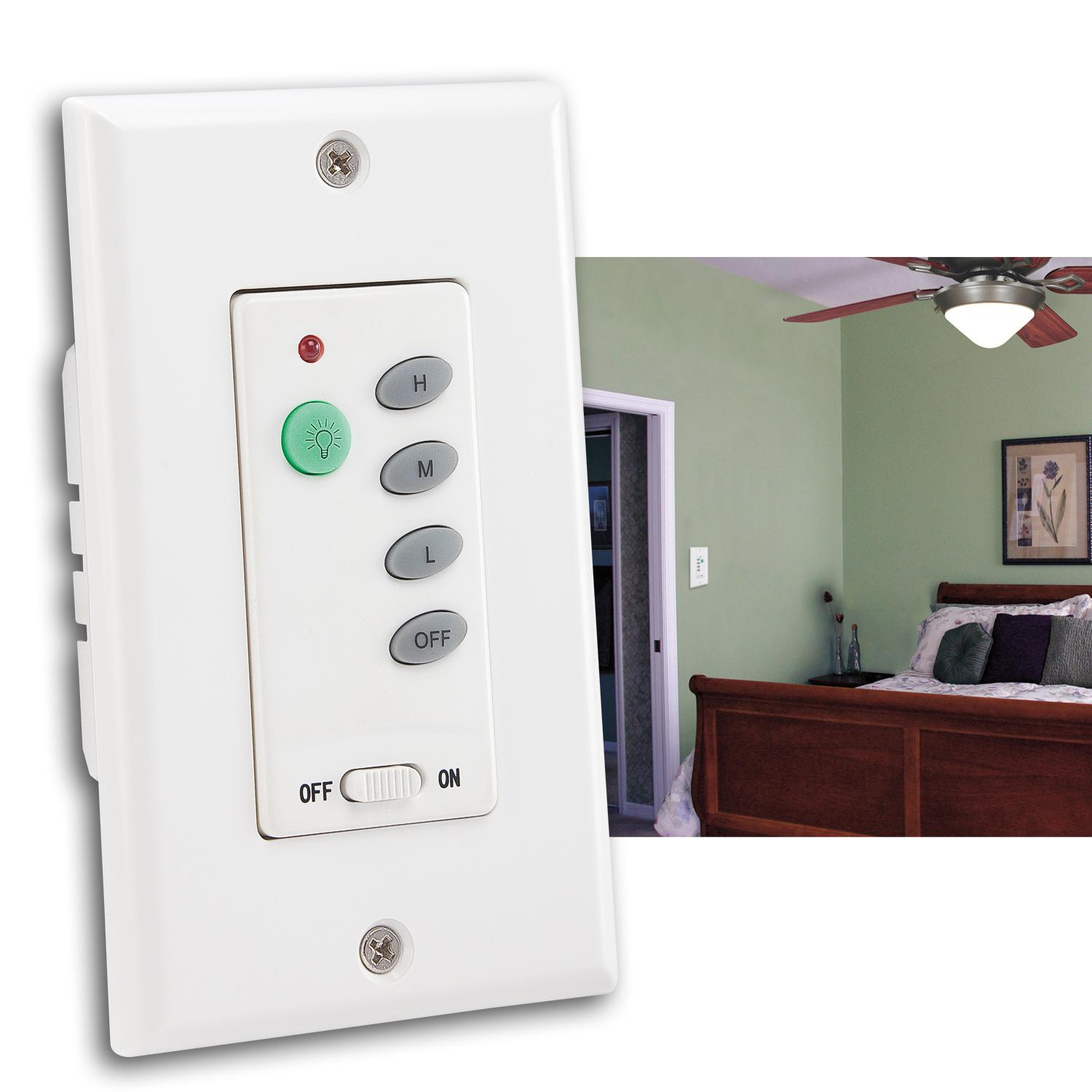 Westinghouse 7787500 Ceiling Fan And Light Wall Control