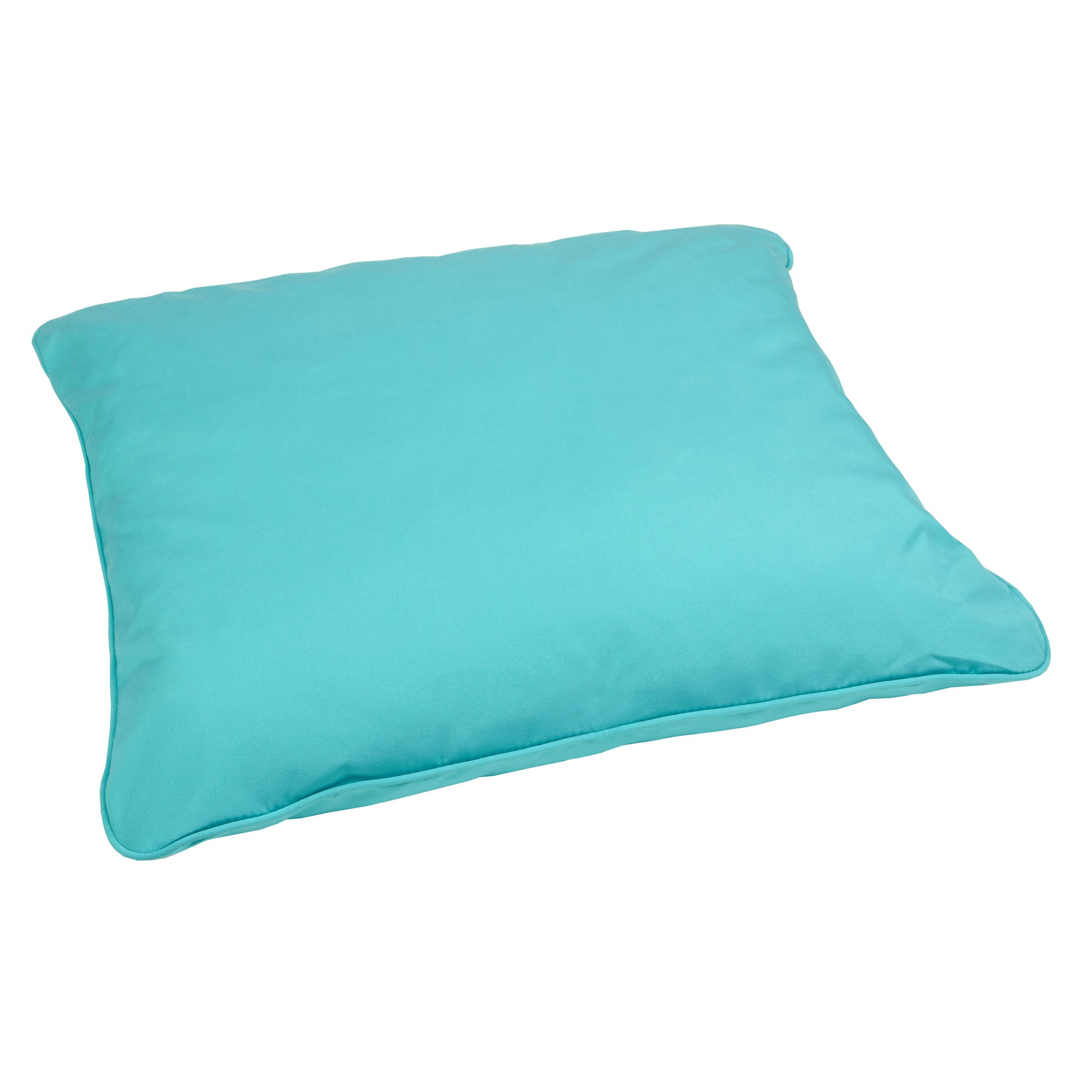 Amazon.com : Mozaic Corded Indoor/Outdoor Square Floor Pillow, 28-Inch, Aruba Blue : Patio, Lawn ...