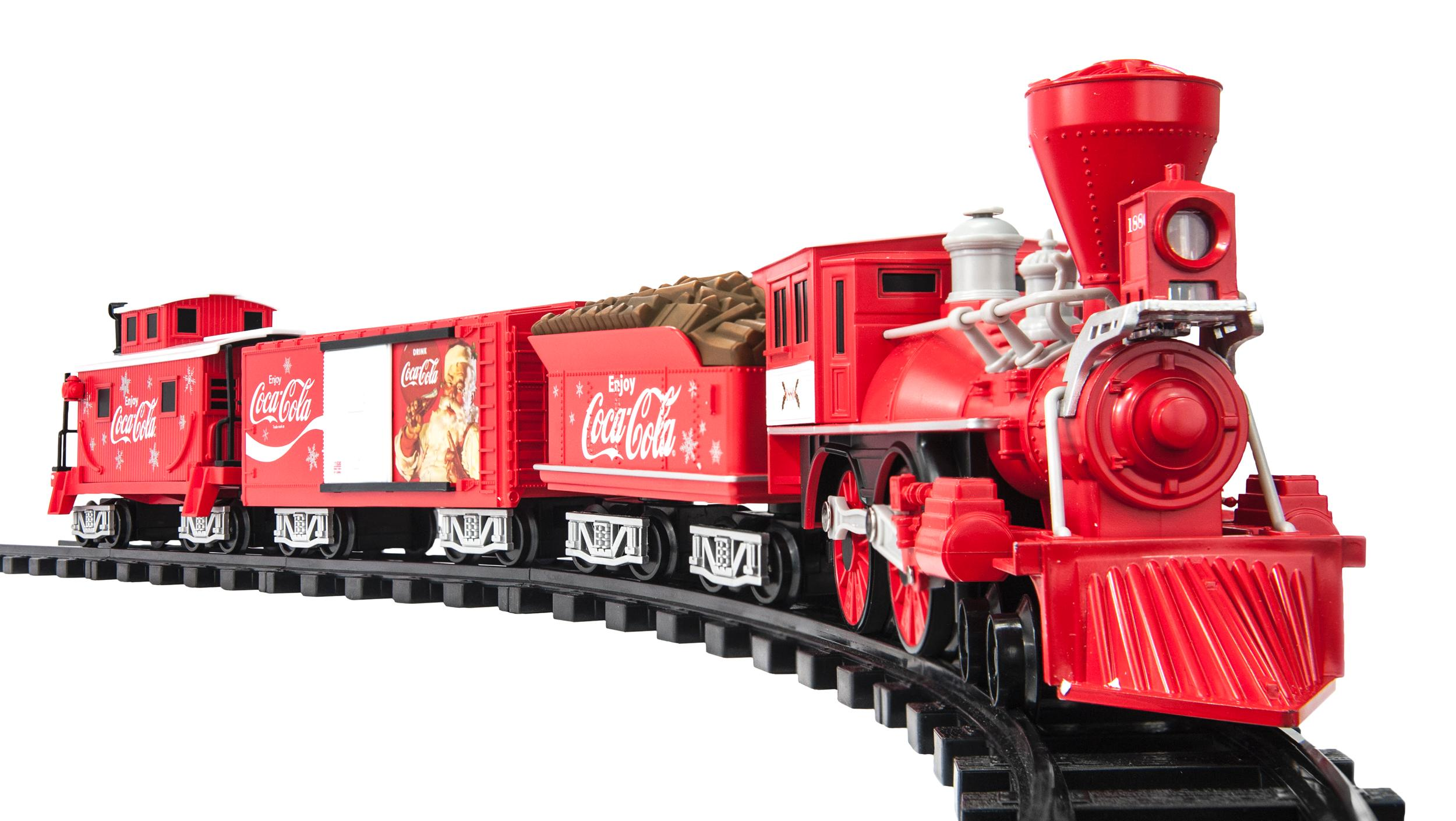 Toy Trains And Christmas : New coca cola train track set electric sound christmas