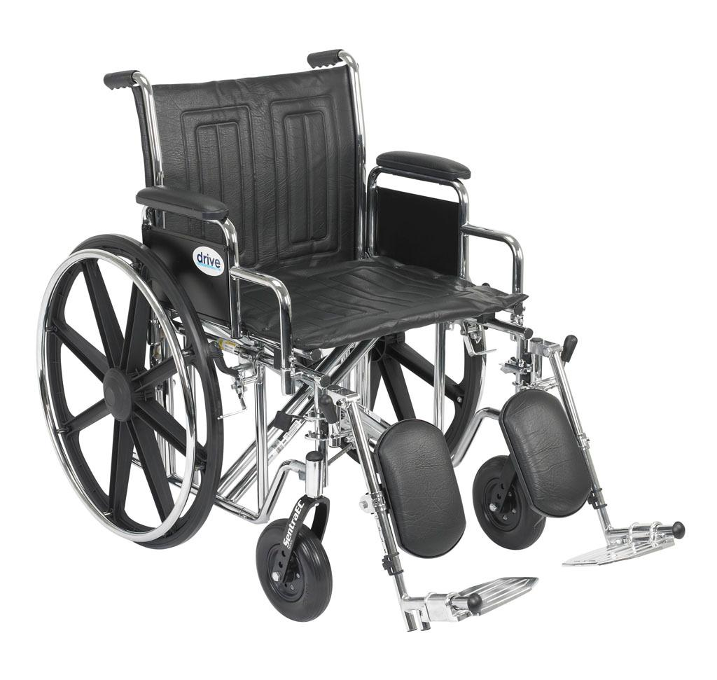 Drive Medical Sentra EC Heavy Duty Wheelchair with Various Arm Styles