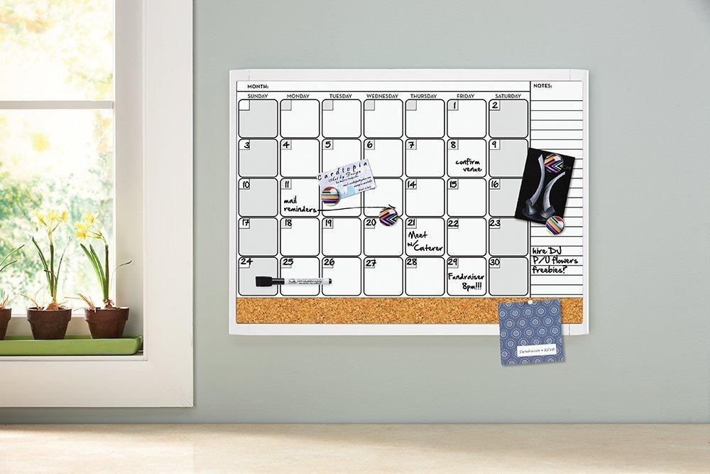 Calendar Bulletin Board Combo : Quartet dry erase board whiteboard