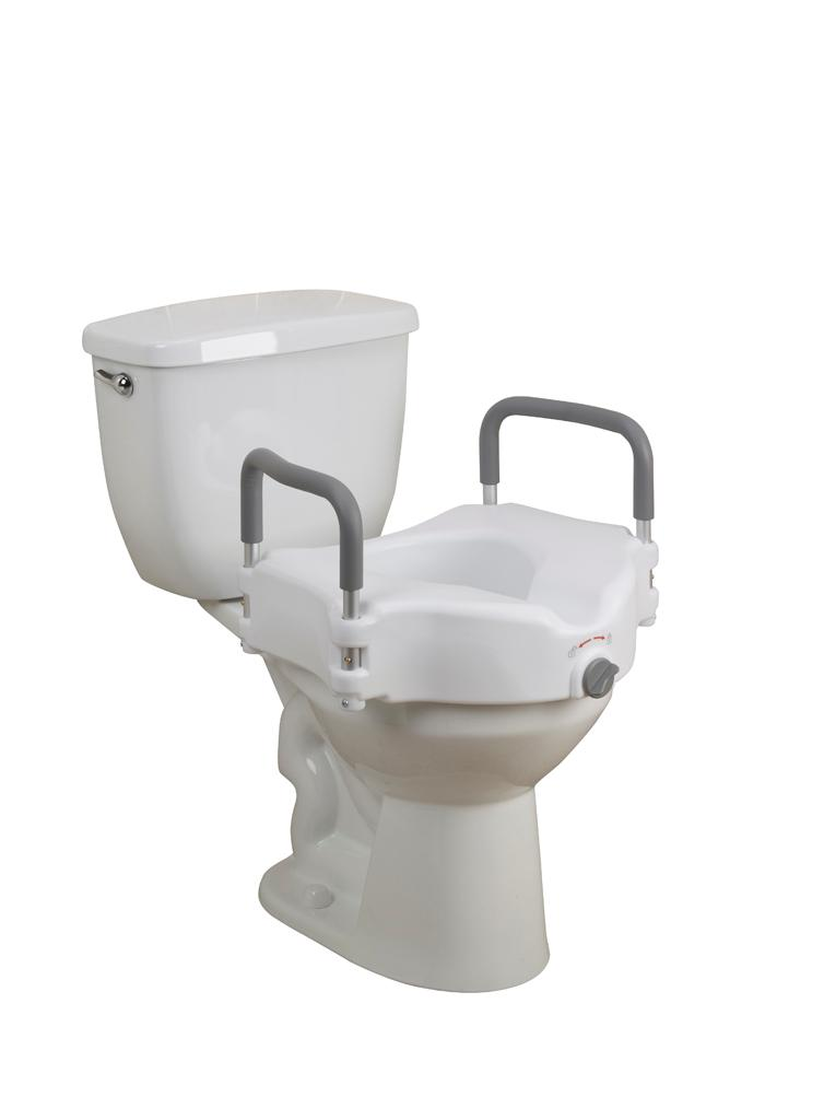 Drive Medical Deluxe Elevated Raised Toilet Seat with Removable Padded