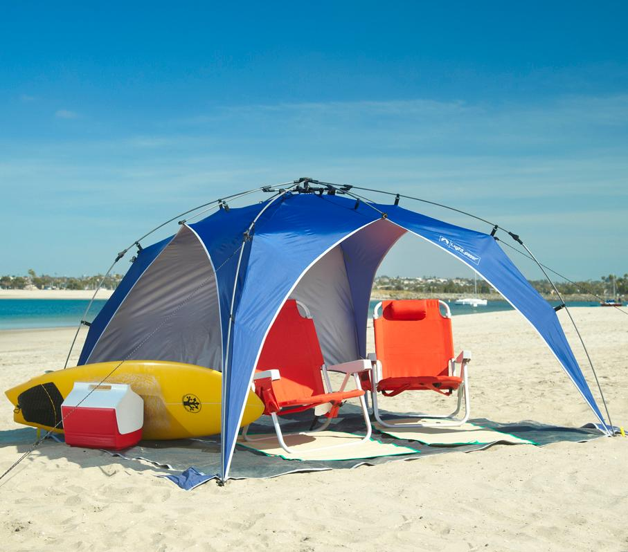 how to set up a beach tent