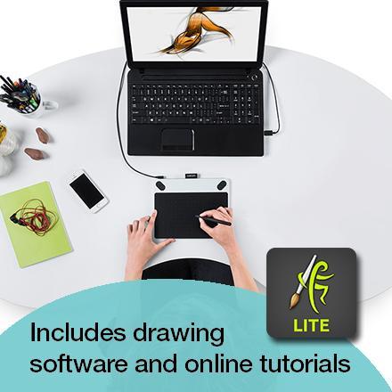 Wacom Intuos Draw Creative Pen Tablet Ctl490dw Villman Computers