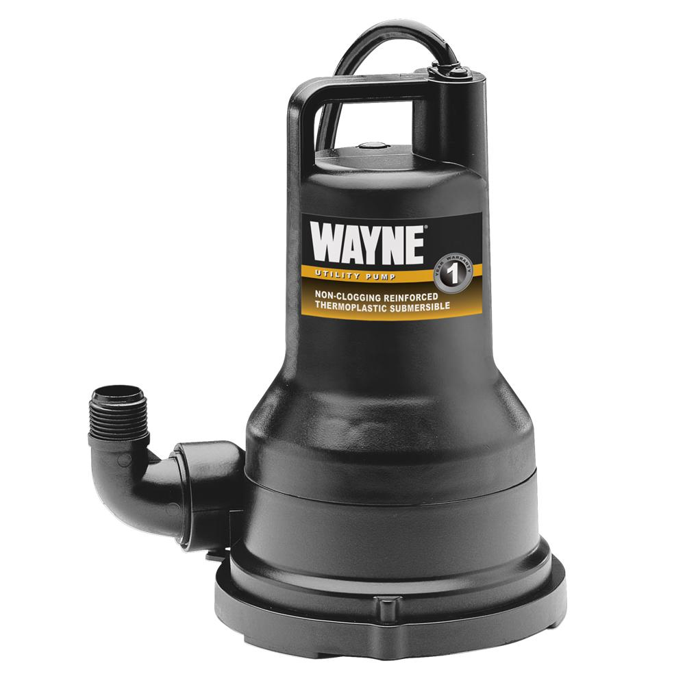 Electric Sump Pump ~ Wayne vip hp thermoplastic portable electric water