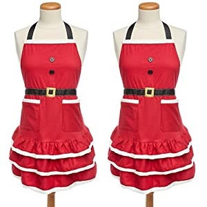 Christmas apron; apron; holiday apron; santa; holiday joy; cotton apron