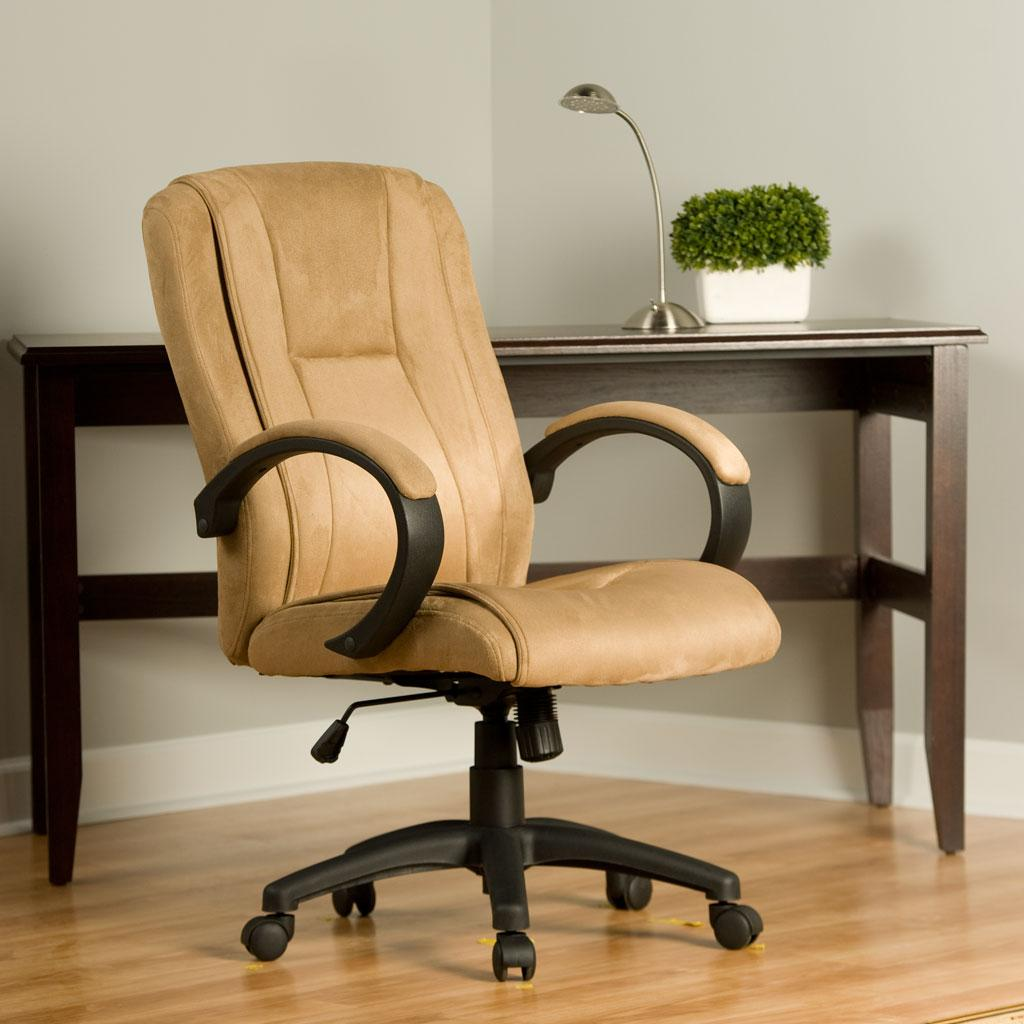 Comfort products 60 0971 padded faux suede for Cream office chair