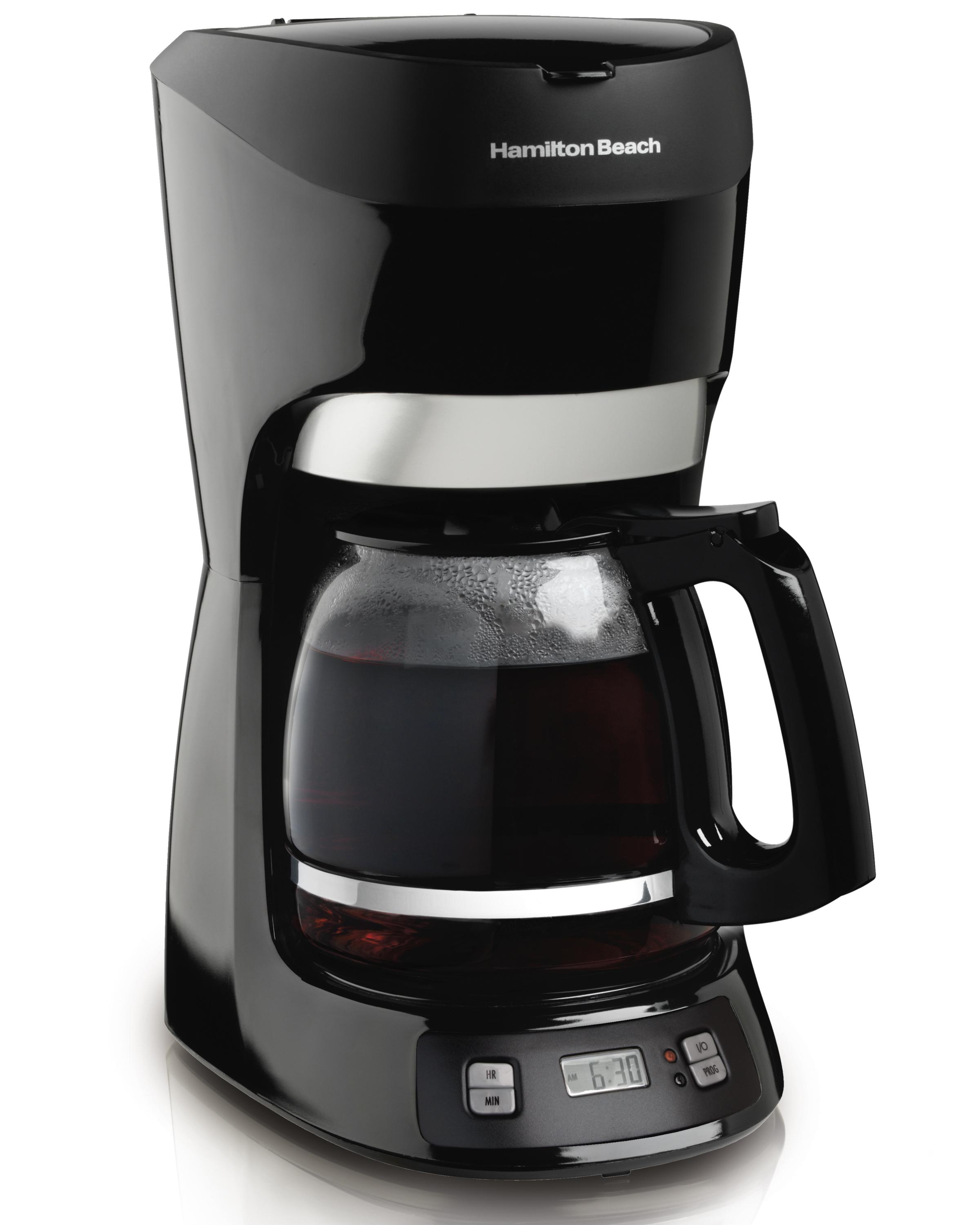 Coffee Maker Coffee Recipe : Amazon.com: Hamilton Beach 12-Cup Coffee Maker with Digital Clock (49467): Coffee Makers For ...